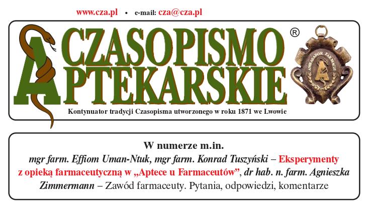 czasopismo aptekarskie tuszyński uman-ntuk