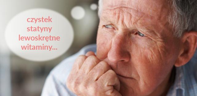 Senior rozważający alternatywne metody leczenia.